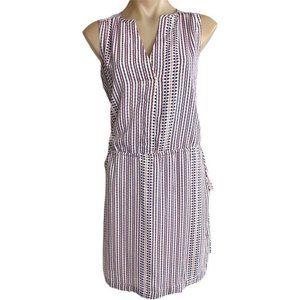 NWT $70 GAP summer shift tunic DRESS split neck sporty PREPPY NAUTICAL XS ♡